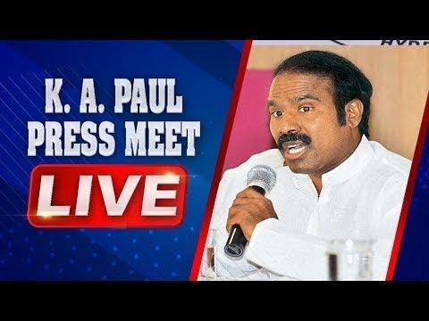 KA Paul LIVE | Press Meet at Vizag LIVE | ABN LIVE