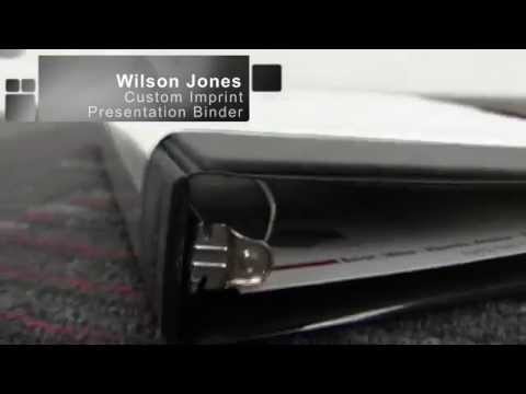 Wilson Jones Custom Imprint Presentation Binder Demo