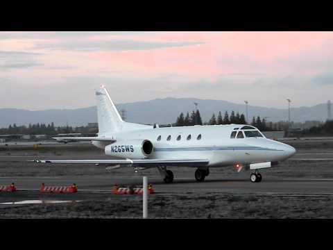 HD RARE North American Sabreliner 65 Taxi at San Jose International Airport (KSJC)