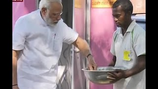 Varanasi Tour: PM Modi lays foundation of toilet in Shahanshahpur village