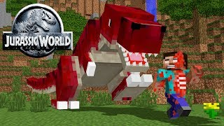 Monster School: JURASSIC WORLD CHALLENGE   Minecraft Animation