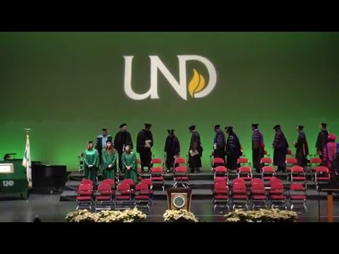2015 University of North Dakota Undergraduate Degree 1pm Commencement Ceremony