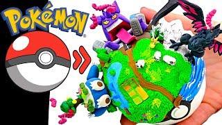 Pokémon Clay Art - Gigantamax Gengar Snorlax Corvinknight diorama ( Galar Pokeball )