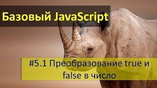 Преобразование значений true и false в числа и специальные JavaScript значения