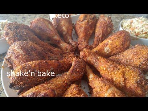Super easy keto/low carb shake'n'bake chicken!! kid tested
