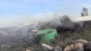 FIREFIGHTERS BATTLE SUMNER DAIRY FARM FIRE