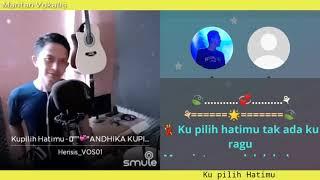 Ku Pilih Hatimu - Ussy & Andhika (karaoke duet bareng lirik tanpa vokal) smule cover Herisis_VOS01