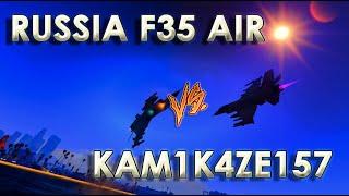 dogfight treino russia f35 air vs kam1k4ze157
