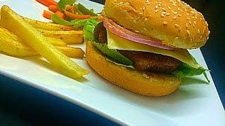 Chicken Burger Kerala Style ചിക്കൻ ബർഗർ Snack or main course