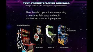 Arcade1Up Wave 2: Mortal Kombat II, Final Fight, Golden Tee, Space Invaders, and Karate Champ