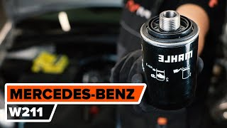 How to change fuel filter MERCEDES-BENZ W211 E-Class [TUTORIAL AUTODOC]