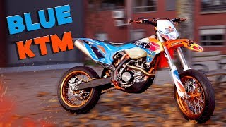 BLUE KTM! - HYENA GRAPHICS Install!