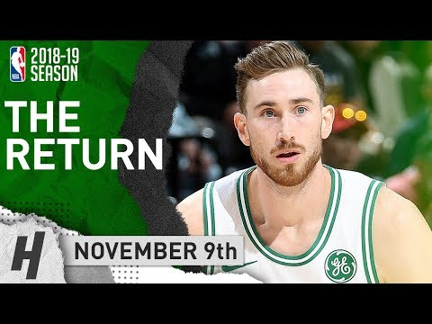 Gordon Hayward RETURNS to Utah, Full Highlights vs Jazz 2018.11.09 - 13 Pts, 7 Ast