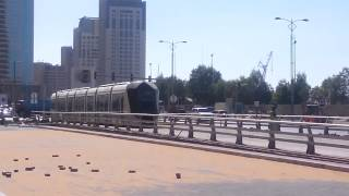 Dubai tram opening on 11th Nov 2014