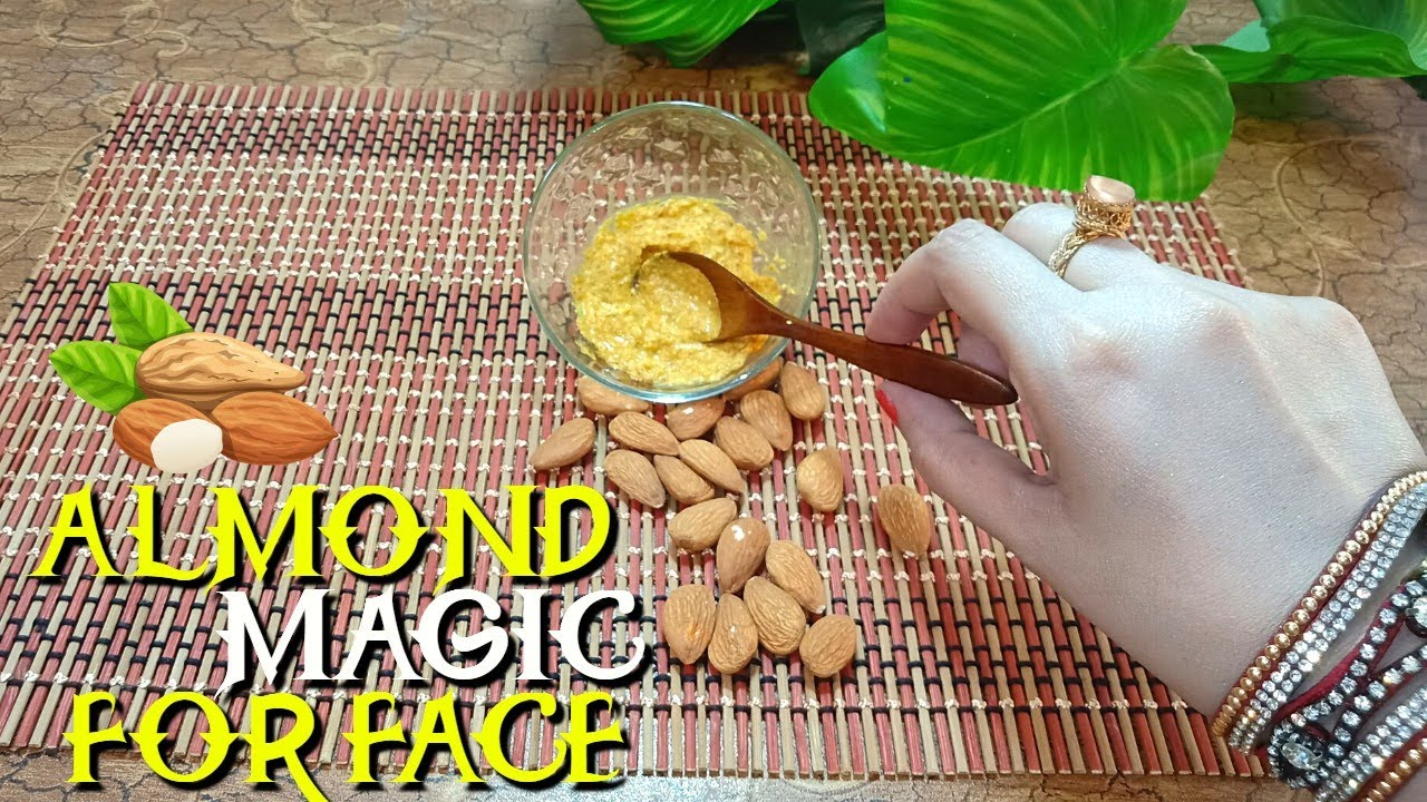 Get Clear Fresh & Healthy Skin With Almond Powder & Wild Turmeric (Home Remedy & Beauty Tips)