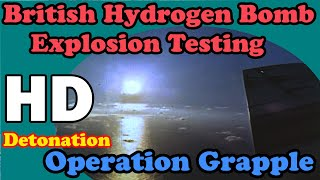 HD British Hydrogen bomb explosion test awesome