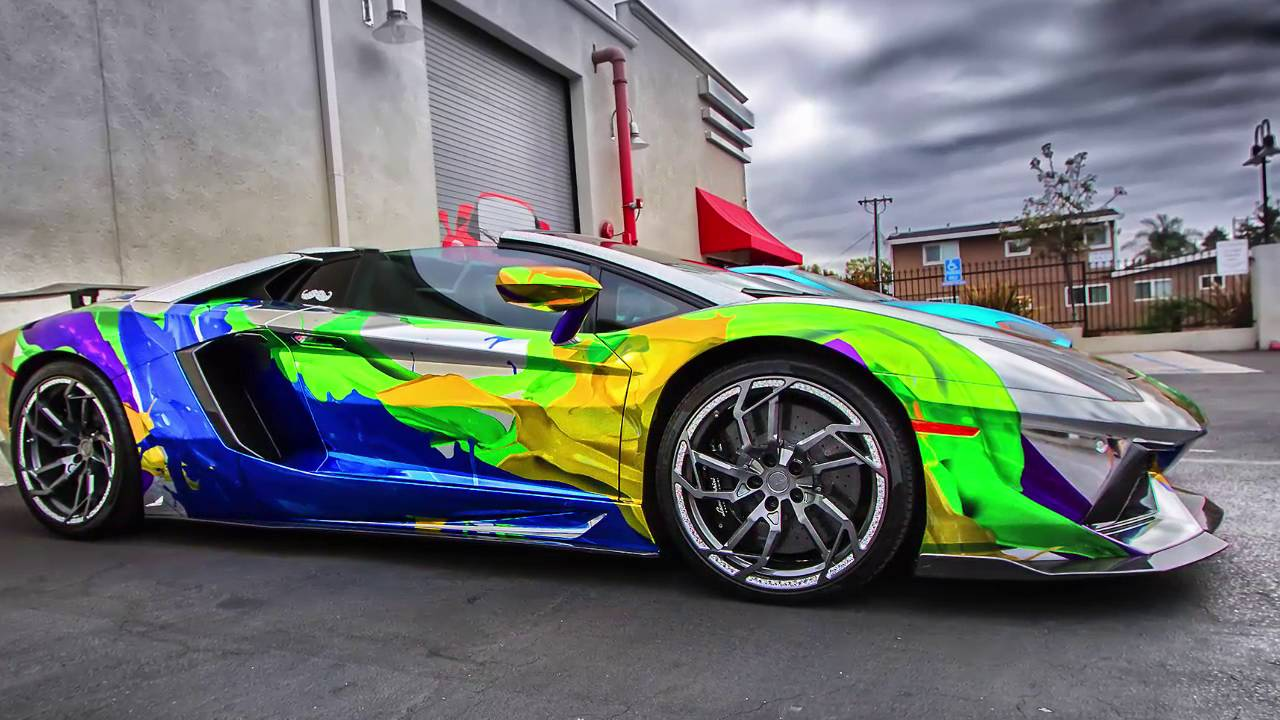 Luxury Cars 2015 2016 Lamborghini Aventador Rainbow Youtube