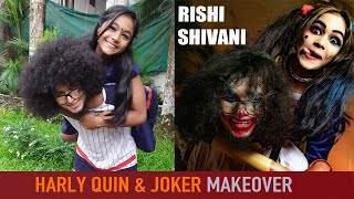 Rishi & Shivani  Doing Harley Quinn & joker makeover (Photoshoot) Brother sister version