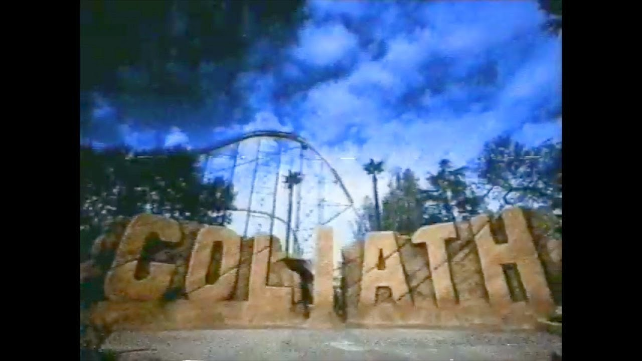 Goliath Six Flags Magic Mountain Valencia California TV Commercial (2001)