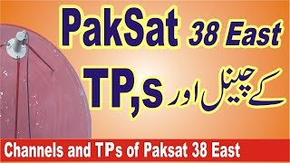 Channels and TPs of Paksat 38 East