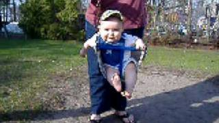 Baby's First Swing!
