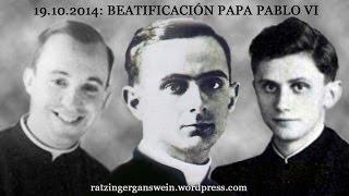 PAPA EMÉRITO BENEDICTO XVI EN LA BEATIFICACIÓN DE PABLO VI