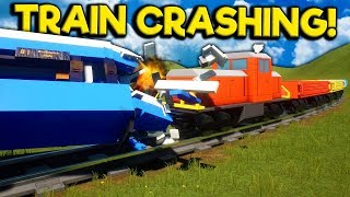 We Crashed Lego Trains with More Trains in Brick Rigs Multiplayer!