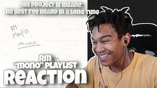 "Baixar (BTS) RM - ""mono"" (FULL PLAYLIST) - REACTION 