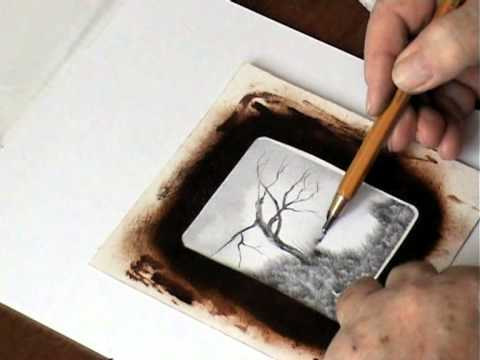 Kresba Tuzkou Stary Strom Pencil Drawing The Old Tree Mpg