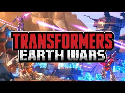 Transformers Earth Wars Real­ Time Combat Strategy Mobile App Game Pre-Registration Trailer