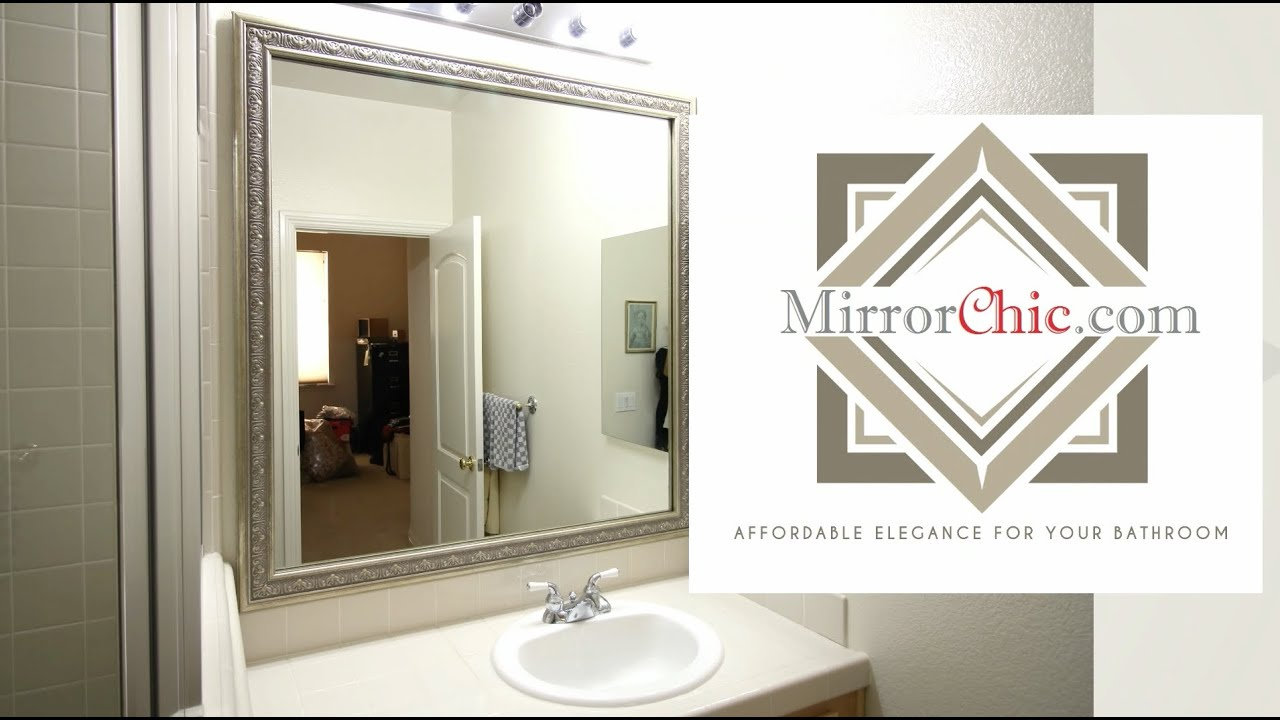 install bathroom mirror mirrorchic the bathroom mirror framing system that s 13256