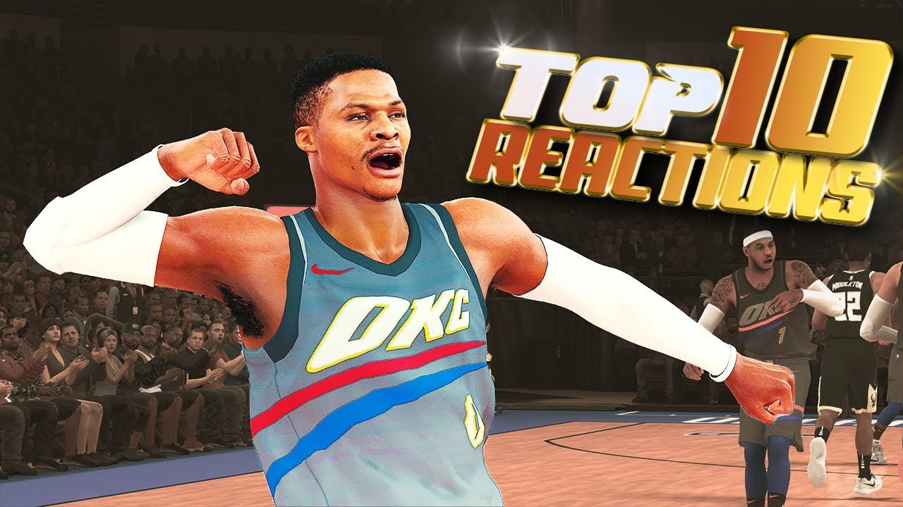 TOP 10 UNFORGETTABLE REACTIONS - NBA 2K18 Highlights & Funny Moments