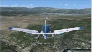 Gorges de l Ardeche vues du ciel - vol virtuel VFR (3) : St Just Vallon Pont d Arc Aubenas