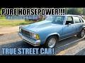 PURE HORSEPOWER SMALL BLOCK TRUE STREET 4 DOOR MALIBU IS SICK!!!!