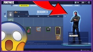 BATTLE PASS SEASON 3 - France TOUS LES SKINS, GLIDERS, CONTRAILS et LOADING SCREENS (ALL TIERS)! Fortnite !