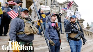 Armed protesters demand an end to Michigan's coronavirus lockdown orders