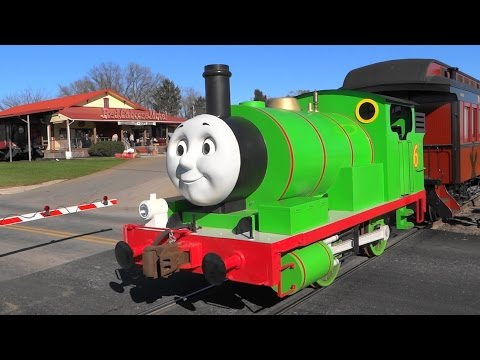 Percy And Thomas Backing Out Of The Station
