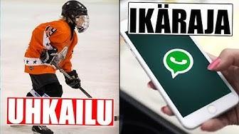 Isä uhkaili jääkiekkoilijaa väkivallalla Suomessa! WhatsAppin ikäraja?