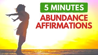5 Minute Morning Affirmations for Abundance | Start Your Day with Wealth