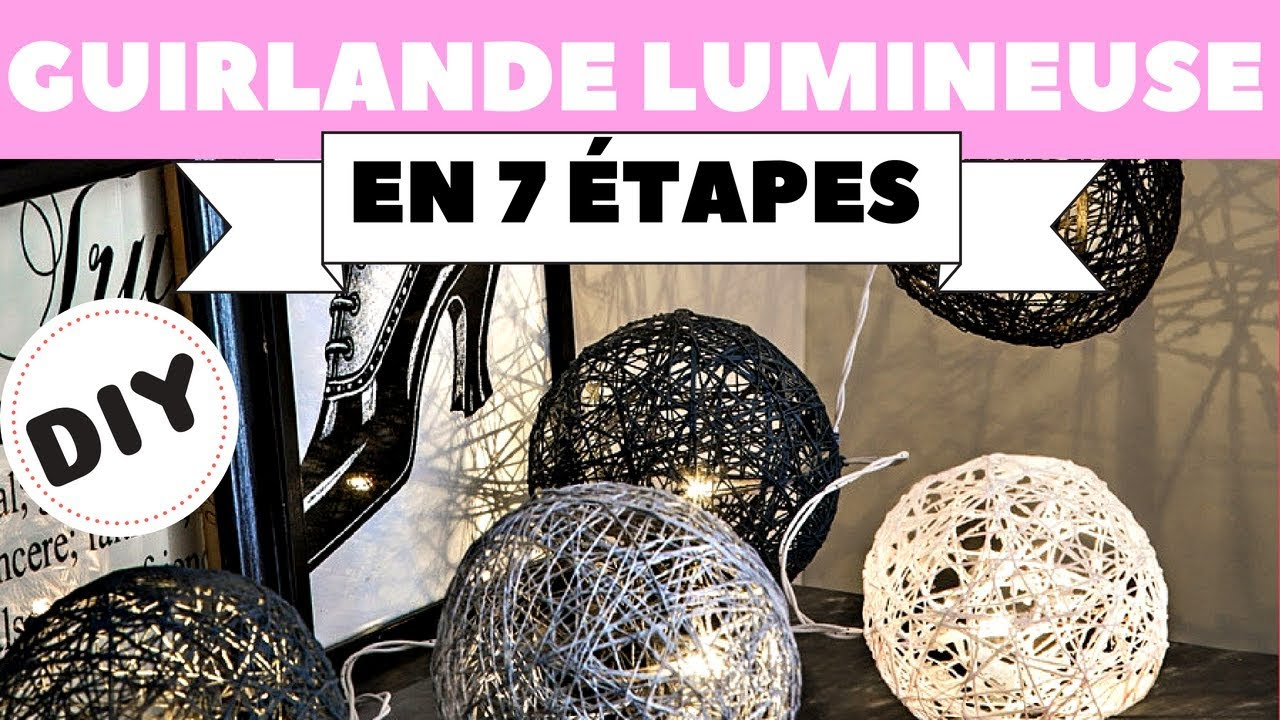 diy une guirlande lumineuse youtube. Black Bedroom Furniture Sets. Home Design Ideas