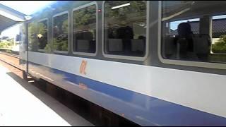 携帯電話から、のと鉄道西岸駅より8月撮影。