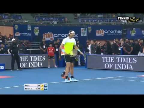 Bopanna & Nadal vs Cilic & Federer Highlights IPTL New Delhi 2015 HD