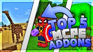 Top 5 Best MCPE Addons 2019 1.12+ / Minecraft PE (Pocket Edition, Xbox, Windows 10) / Avengers