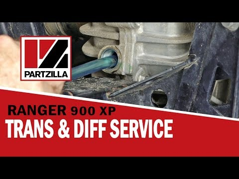 How to Change the Transmission Fluids in a Polaris Ranger 900 XP    Partzilla com