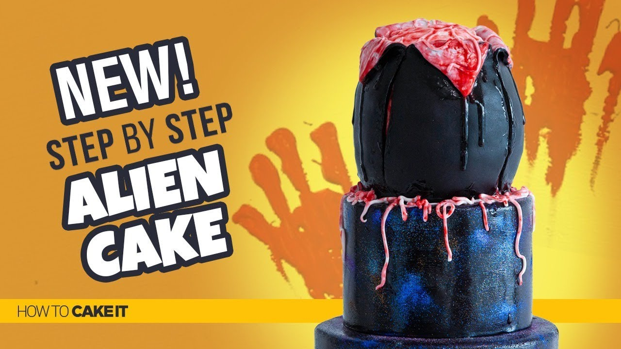 How To A Goo Filled Alien Cake by Sam Lapointe | How To Cake It Step By Step