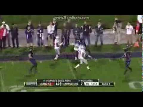 College Football: Ohio State Buckeyes Vs The Northwestern Wildcats