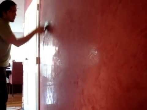 Estuco rosa borgo a con vetas de oro youtube for Tonos de pintura para interiores