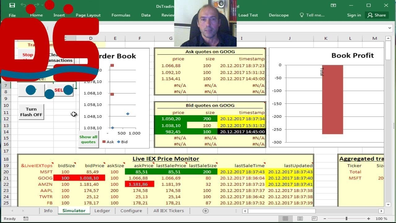 Vba Stock Simulation Real Time Trading Simulator Using Live Stock Prices From Iex