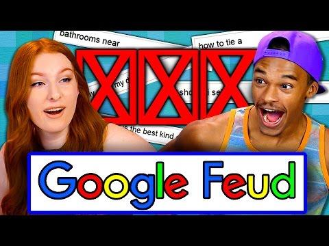 GOOGLE FEUD (Teens React: Gaming)