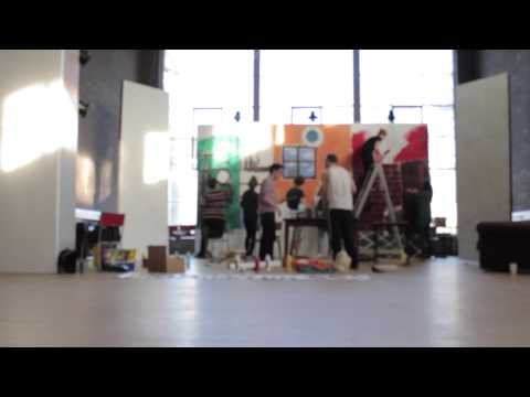 University of Aberdeen - Art Society - 24 hour play set painting